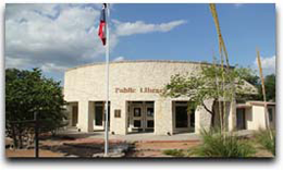 Real County Public Library Leakey Logo